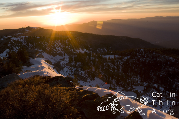 Sunset over Kaiser Wilderness Area, Califronia