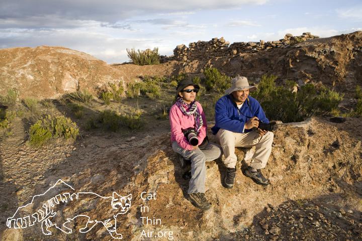 Alejandra Rocio Torrez Tarqui and Juan Carlos Huaranca Ariste in the Altiplano, western Bolivia